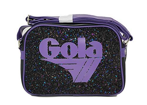 Gola, Damen Umhängetasche Black-violet W30 CM X 8 X H22 CM