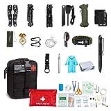 Equipo De Supervivencia De Emergencia, para Hombre Primera Kits De Supervivencia Ayuda Táctica Bolsa para Aventuras Al Aire Libre Mochila Kit Kit De Pesca Militar