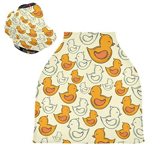 Sinestour Duck Animal - Fundas para asiento de coche para bebé, funda para silla alta, toldo multiusos para niños y niñas