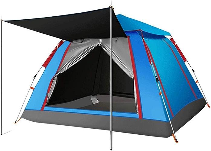 ZL-Tente Tente DE 3-4 Personnes imperméable à l'eau, résistant à l'humidité, Lutte Contre Les ravageurs en Plein air