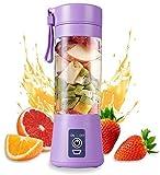 Budget Bag Mini Portable USB Mixer Grinder Blender for Fruit and Vegetable Juicer 380 ml Bottle for...