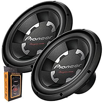 """Pair of Pioneer TS-A300D4 12"""" Dual 4 Ohms Voice Coil Subwoofer - 1500 Watts  2 Subwoofer"""
