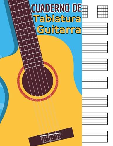 Cuaderno De Tablatura Guitarra: Cuaderno de tablatura guitarra: 7 tabs por página. Ideal para músicos, estudiantes de guitarra, profesores de musica ... A4). Cuaderno de musica para guitarra.