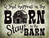 Combo What Happens In The Barn Stays In The Barn Novelty Metal Sign With Air Freshener