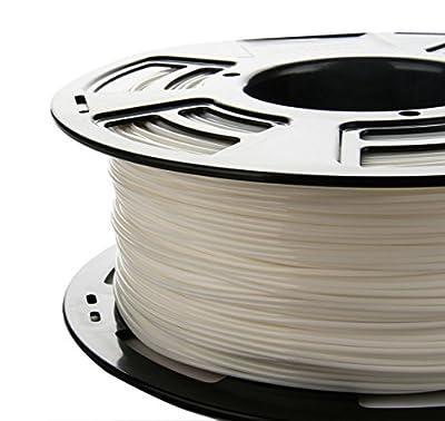 Stronghero3d desktop 3d printer fdm filament pla Bright White 1.75mm 1kg (2.2 lbs) dimension accuracy of + / -0.05mm
