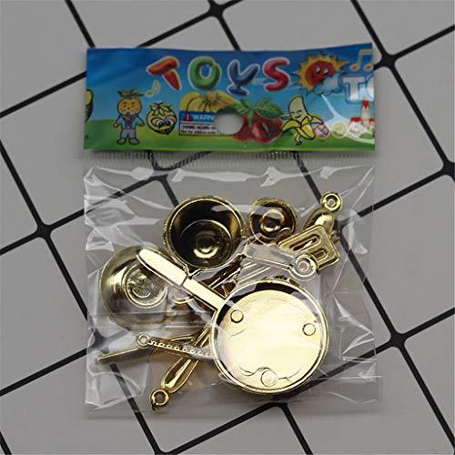 Bciou 11 piezas 1:12 tenedor olla juego de cocina juguetes de comida casa de muñecas miniatura accesorios de simulación juego niños juguete