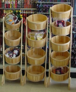 All Main Bucket 301 Four 13 in. x 7 in. Tub Display Rack