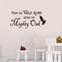 Gisuily Removable Wall Decals Inspirational Vinyl Wall Art from The Tiniest Acorn Grows The Mighty Oak for Living Room Bedroom