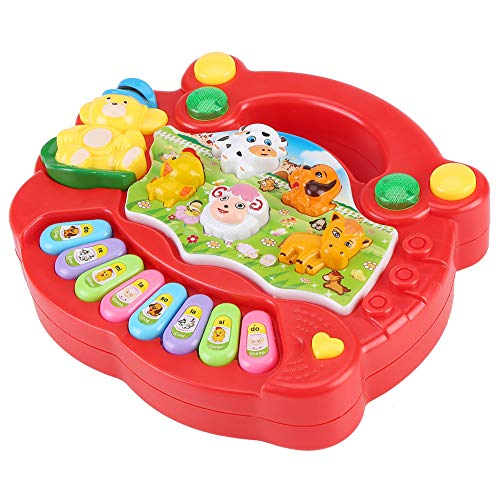 Jadpes Music Keyboard Piano Toy, Farm Developmental Music Toys Animal Sound Educational Music Toy...