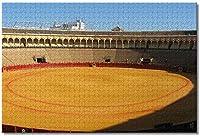 BEI YU MAN.co スペイン闘牛セビリアジグソーパズル大人のための子供1000個木製パズルゲームギフト用家の装飾特別な旅行のお土産