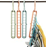 Kuber Industries Plastic Hangers for Adult Size Clothing, Plastic, Ideal for Everyday Standard Use Clothes, Shirts, Blouses, T-Shirts, Dresses, Jackets, Suits (Set of 4, Multi)-KUBMART10959