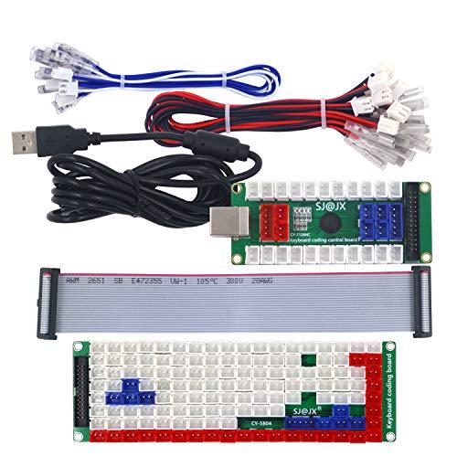 SJ@JXDevelopment Keyboard Encoder Board Game Controller DIY LED KeyboardDevelopment Board Media Music USB Encoder 88 Keys Arcade DIY Kit