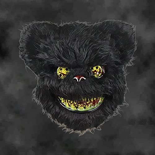 wholesale Halloween 2021 Bear Mask new arrival - Scary Bloody Plush Bear Head Mask - Masquerade Cosplay Costume Props Halloween Party Accessories outlet sale