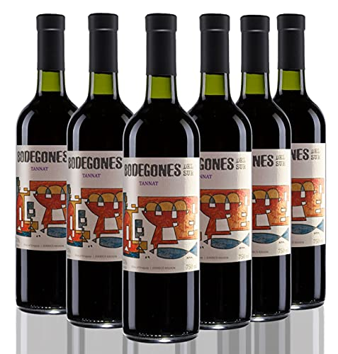Vino tinto de Uruguay – Bodegones del Sur - Tannat – Bodega Establecimiento Juanicó - 6 botellas x 750 ml