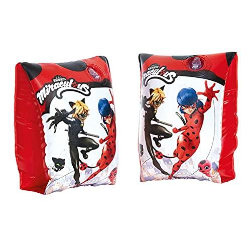 Lively Moments Schwimmflügel Miraculous - Ladybug und Cat Noir / Schwimmhilfen / Armbänder 1-6 Jahre / 11-30 kg