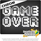 GAMEOVER Pixelフォント GAMEOVER Pixel font 17cm x 10cm 15色 - ネオン+クロム! ステッカービニールオートバイ
