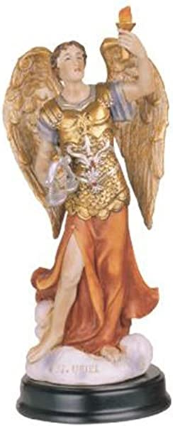 George S Chen Imports 5 Inch Archangel Uriel Holy Figurine Religious Decoration Statue