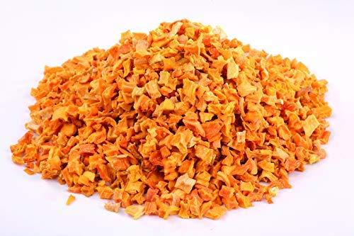 Bio Hokkaido Kürbis Stückchen getrocknet 1kg Fairtrade Gemüse, Rohkost, für Smoothies, Suppe, Salat und als Snack, aromatisch süßlich, gelblich/grünlich/bräunlich 1000g