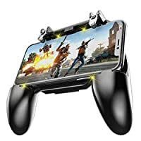 COOBILE Mobile Game Controller for PUBG Mobile Controller L1R1 Mobile Game Trigger Joystick Gamepad for 4-6.5' iOS & Android Phone(W10 Update) [並行輸入品]