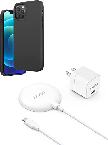 discount Anker Magnetic Silicone Case, 6.1 Inches for iPhone 12 (Dark 2021 Gray) & Anker Magnetic Wireless Charger with 20W USB-C Charger Bundle, discount 5 ft Built-in USB-C Cable online