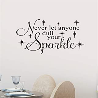 Posuty Wall Art Stickers Quotes and Sayings Never Let Any One Dull Your Sparkle for Living Room Bedroom