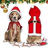 Nobleza Navidad Ropa para Perros Pequeño, Disfraz Gato de Navidad Papá Noel, Traje de Santa Ajustable para Cachorro Gatito Gatos Pequeños Perros Mascotas