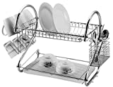 St@llion® 18 inch 2 Tier Dish Drainer Rack Holder Durable for Cutlery Excellent