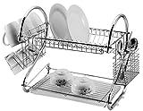 St@llion Porte-vaisselle égouttoir à deux niveaux 45,72cm, Acier inoxydable, chrome, Approx 42 x 24.5 x 39.5cm ( L X...