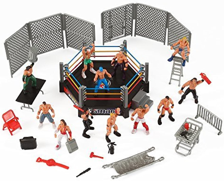 apresurado a ver Liberty Imports Mini Wrestling Ring Jugarset with Figuras & & & Accessories by Liberty Imports  suministro directo de los fabricantes