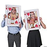 Playing Card Face Cutouts - Set of 2 - Almost 2 Feet Tall - Poker Night Casino Party Supplies