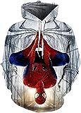 Sudadera con capucha Unisex Deadpool 3D Pullover Sudadera con capucha Sudadera Superhéroe Hombres Mujeres Moda Casual Pullover Sudaderas con Big Bolsets (Color : 4, Size : 3XL)
