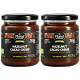 Planet Plant-Based Crema de Cacao y Avellanas Orgánica y Vegana - hecha de 4 ingredientes naturales - sin aditivos ni azúcar refinado - endulzada con jarabe de dátiles - 2 frascos (2x220g)