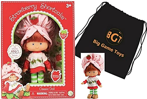 Big Game Toys~Classic 1980s Strawberry Shortcake Retro Berry Scented Doll in Box w/ BGT Backpack