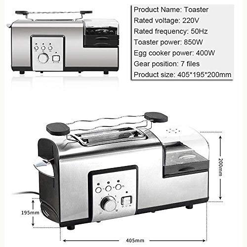 Ontbijtmachine, multifunctioneel huishoudelijk ontbijt Sandwich Brood Broodrooster Eierkoker Steamer Een machine Multifunctioneel, klein draagbaar