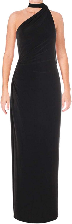 Lauren Ralph Lauren Womens Harvella One Shoulder Special Occasion Evening Dress