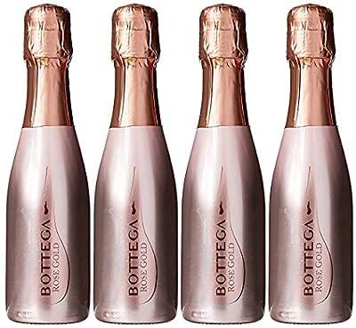 Bottega Rose Gold Prosecco Sparkling Wine 4 x 20cl