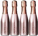 4 x Bottega Rose Gold Prosecco Sparkling Wine 20cl Miniature