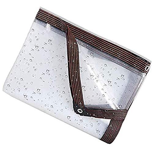QIAOH Lonas Impermeables Exterior 6x9m, Transparente Impermeable Lona De Protección Impermeable,A Prueba De Viento,A Prueba De Polvo/A Prueba De Lluvia Exterior PE Toldo