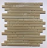 Mosaico sobre red de gres porcelánico de cerámica, fabricado en Italia – PYPER 623 Beige