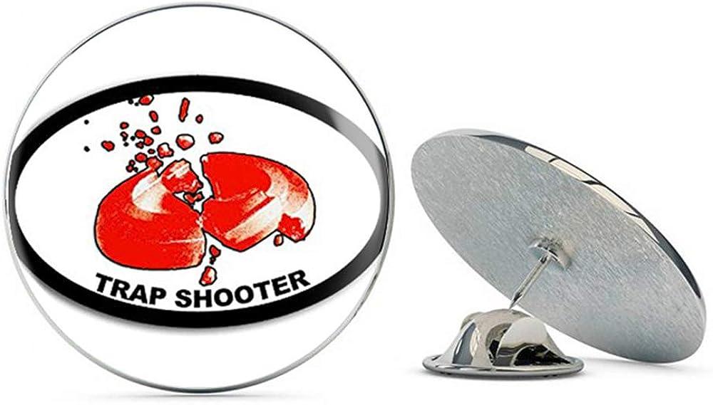 NYC Jewelers Oval Trap Shooter (Gun Shooting) Metal 0.75