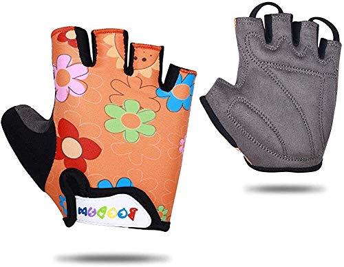 Guantes de media dedo, guantes cortos, guantes de patinaje de rodillos, guantes de equitación, guantes de ciclismo de medio dedo para niños, niños Guantes de seguridad deportivos al aire libre para ni