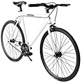 Max4out Track Bikes Single Speed Urban Fixie Road Bike 700 cc Track Bicycle White