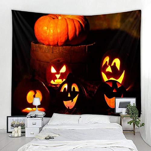 Tapiz de Halloween de calabaza Tapiz indio Tapiz colgante de pared 150X200CM