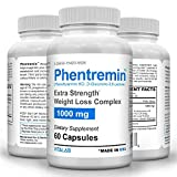 Phentremin1000mg, Extra Strength Weight Loss Complex, Best Appetite Suppressant, 37.5, 60 Capsules