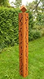 Gartendeko Rost Stehle Säule 150 cm mit Rissen und Würfel