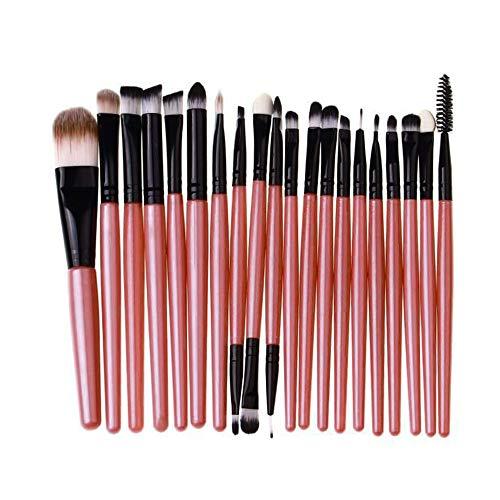 ITISME-ITISME-20 Pcs/Set Maquillage Brush Set Makeup Brushes Kit Outils Maquillage Professionnel Maquillage Pinceaux Yeux Pinceau Pour Les +1Pc Houppettes à Poudre (X)