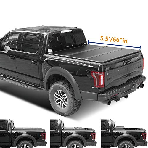 Lyon cover 5.5ft 66-67 Hard Tri-Fold Truck pickup Bed for 2004-2014 F150 & Lincoln 2006-2008 Mark LT Tonneau Cover