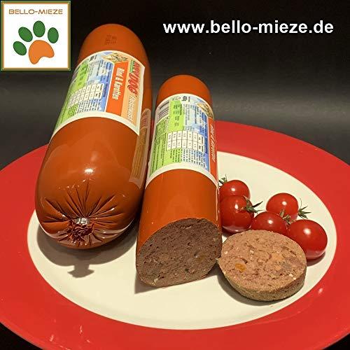RopoDog Fleischwurst mit Rind + Karotten (6 x 800 gr. Würste)