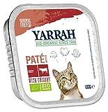 Yarrah Pate Rind Zichorie - Comida para Gatos orgánica (100 g, 16 x 100 g)