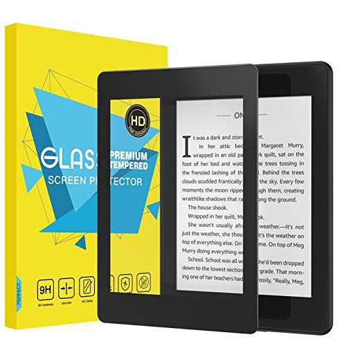MoKo Folie Kompatibel mit Kindle Paperwhite 2018 - HD 9H Panzerglas Hartglas Bildschirmschutzfolie Glas Bildschirm Schutzfolie Bildschirmschutz für All-New Kindle Paperwhite 2018 Tablet - Schwarz